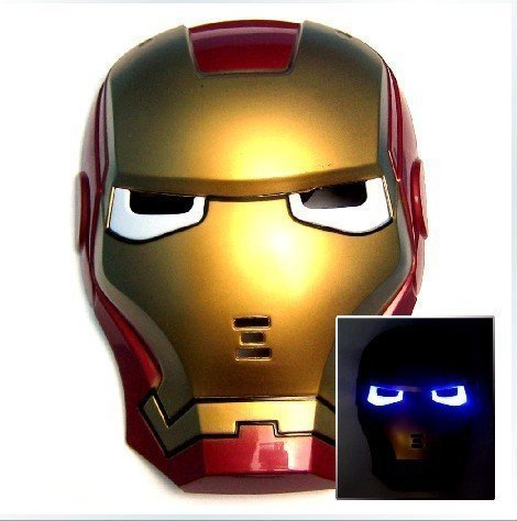 LICENCIA Iron Man 3 Movie Casco Máscara de juguete con luz LED Up Eyes: Amazon.es: Juguetes y juegos