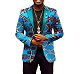 Tootless-Men Casual Batik Dashiki Sweatshirt Africa Print Simple Blazer 19 M