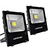 LEPOWER 2 Pack 50W New Craft LED Flood Light, Super Bright Outdoor Work Light with Plug, 250W Halogen Bulb Equivalent, IP66 Waterproof, 4000lm, 6500K, Outdoor Led Lights (White Light) Review