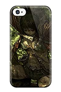 High Grade MichaelTH Flexible Tpu Case For Iphone 4/4s - The Ninja By The Tree