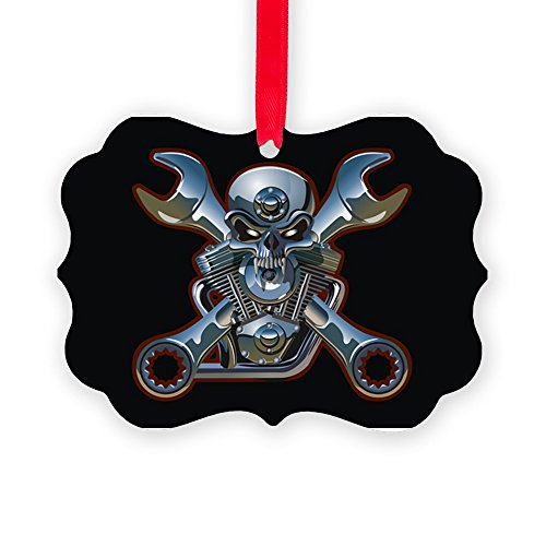 Picture Ornament Motorhead Skull Wrenches Gearhead