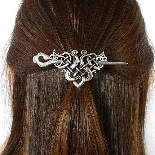 Viking Celtic Hair Sticks Hairpin-Viking Hair Clip Sticks for Long Hair Stick Slide Irish Hair Accessories (N-C1) -