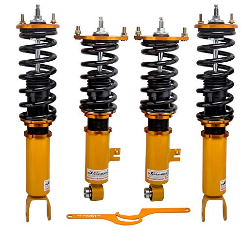 (maXpeedingrods Coilovers for Nissan Fairldy Z 300ZX Z32 1990-1996 Adjustable Suspension Coil Spring Shock Strut Adjustable)