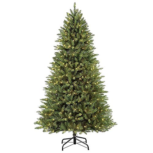 Amazon.com: 7.5\' Pre-Lit Fraser Fir Slim Artificial ...