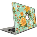 VictoryStore Electronic Device Cover, Vinyl Skin Cover, Compatible with MacBook Air or Pro (13 inch) Vinyl Skin - Vintage Floral Pattern