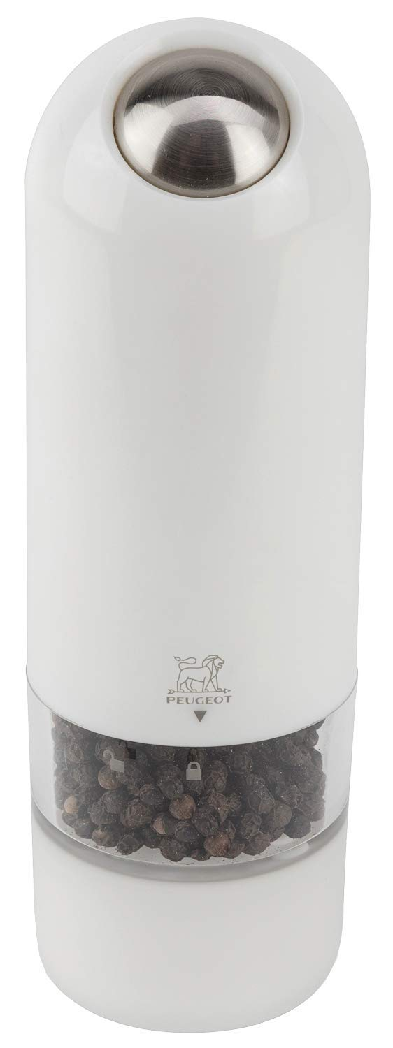 Peugeot Alaska Electric Pepper Mill, 7-Inch, White by Peugeot
