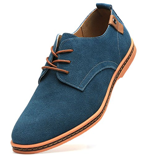 Dadawen Men's Green Leather Oxford Shoe – 10.5 D(M) US