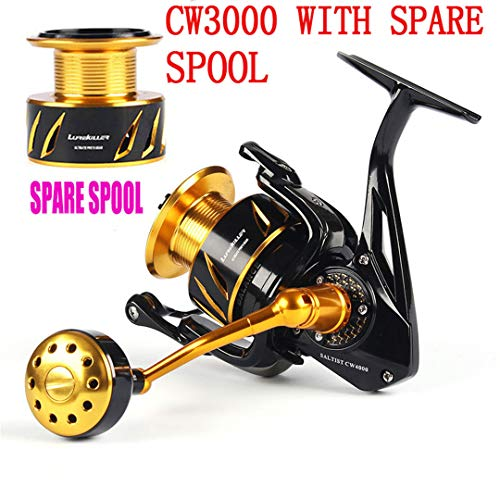 KEHAINIU Japanese Made Saltist CW3000- CW10000 Spinning Jigging Reel Spinning Reel 10BB Alloy Reel 35Kgs Drag Power CW3000 with S Spool 10