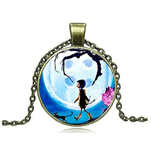 Coraline Fashion Necklace Brass Pendant Steampunk Jewelry Gift women new chain Toy