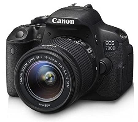 Canon EOS 700D 18MP Digital SLR Camera  Black  with 18 55mm is II and 55 250mm is II Lens, Memory Card and Carry Bag Digital SLRs