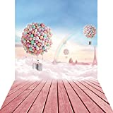 KonPon 5x10ft Silk Cloth Sky Scenery Fire Balloons Photography Props KP-010