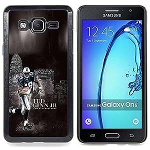 """Qstar Arte & diseño plástico duro Fundas Cover Cubre Hard Case Cover para Samsung Galaxy On5 O5 (Fútbol 19 Ginn"""")"""