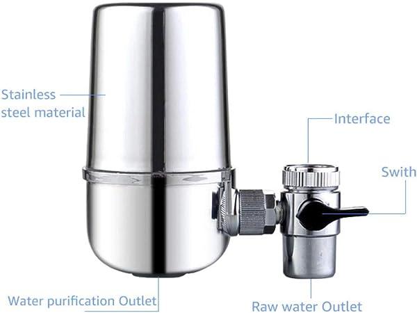 Filtro de grifo de cocina Agua de piedra Purificadores de agua ...