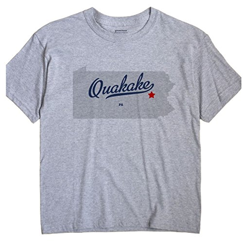 Quakake Pennsylvania PA MAP GreatCitees Unisex Souvenir T Shirt