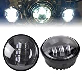 """Liteway 4-1/2"""" 4.5 inch 2x 30w LED Fog Lights Smoke Lens Cree LED Auxiliary Lights LED Passing Lights for Harley Motorcycle Driving Offroad Lamp"""