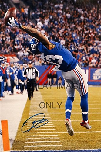 Odell Beckham Jr Autograph Replica Poster   The Catch That Started The Legend
