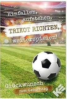 Geburtstagskarte Klappkarte Sport Hobby Zum Geburtstag Fußball