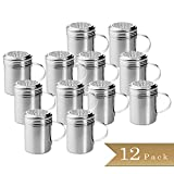 Set of 12 - TrueCraftware Stainless Steel Dredge Shakers with Handle - 10 Ounce