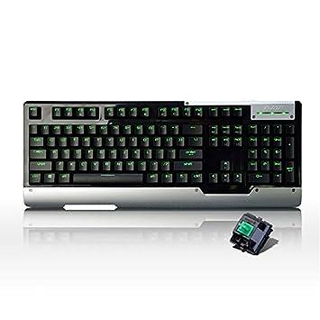 Pegasus Ajazz ak47 cereza mx 104keys verdes retroiluminadas teclado para juegos mecánicos: Amazon.es: Electrónica