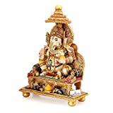 CraftVatika Large Ganesha Statue Marble Dust Ganesh Sculpture Religious Figurine Gift