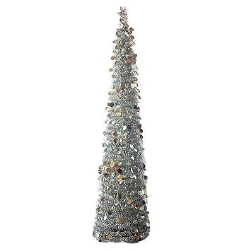 Falda para árbol de Navidad, plegable, ajustable, con lentejuelas ...