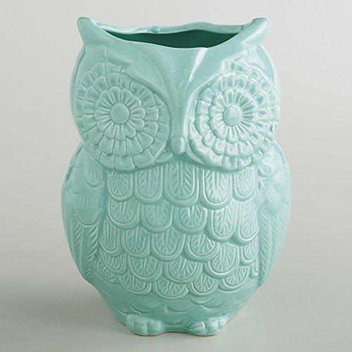 Aqua Owl Utensil Crock (Owl Crock Utensil)