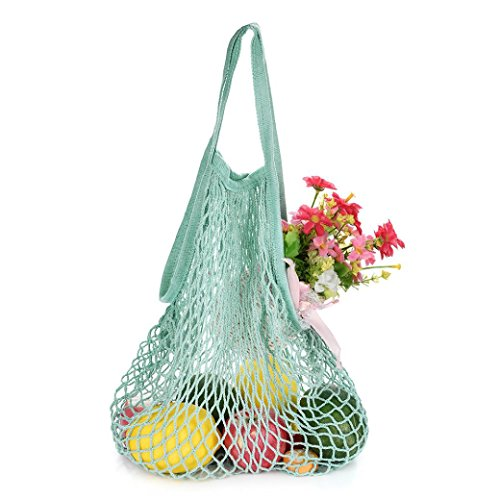 Storage Bag, Storage Basket, Yezijin Mesh Net Turtle Bag String Shopping Bag Reusable Fruit Storage Handbag Totes New (A) ()