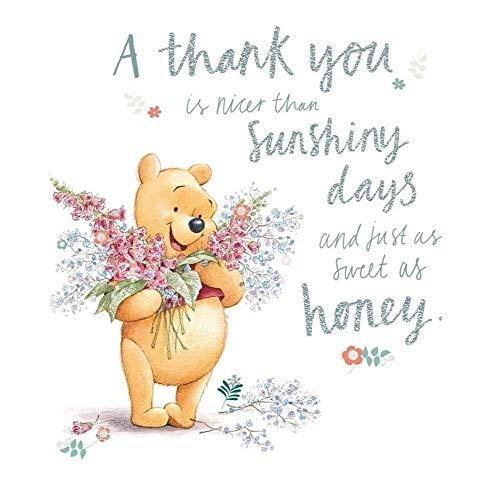 Winnie The Pooh Thank You Card -