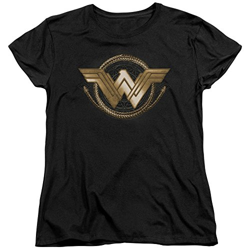 (Trevco Womens: Wonder Woman Movie - Lasso Logo Ladies T-Shirt Size L)
