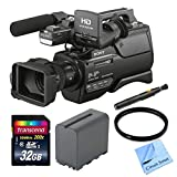 Sony HXR-MC2500 Shoulder Mount AVCHD Camcorder, With NP-F970 Replacement Battery, Full Size Tripod, 32GB Extreme Memory Card, Lens Cleaning Pen, 37mm Filter, and CS Microfiber Cleaning Cloth