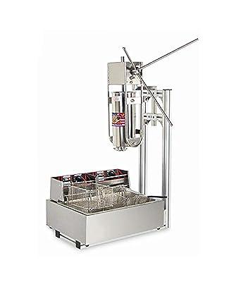 mxbaoheng 5L comercial español Churros Panificadora Latina frutas máquina capacidad comercial Deluxe incluido de acero inoxidable