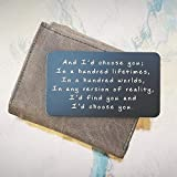 Anniversary Gifts for Men - Engraved Wallet Inserts Make the Perfect Birthday Gifts for Men in 2018! Metal Wallet Card Love Note, Anniversary Gifts for Men, Boyfriend, Husband Gifts from Wife