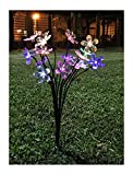 Cafolo Solar Garden Flower LED Lights Stake With 8 Blossom Flowers, Multi-color for Garden, Patio, Backyard Holiday Decorations