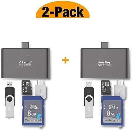 Amazon.com: Tipo C lector de tarjetas, asltoy USB C OTG Hub ...