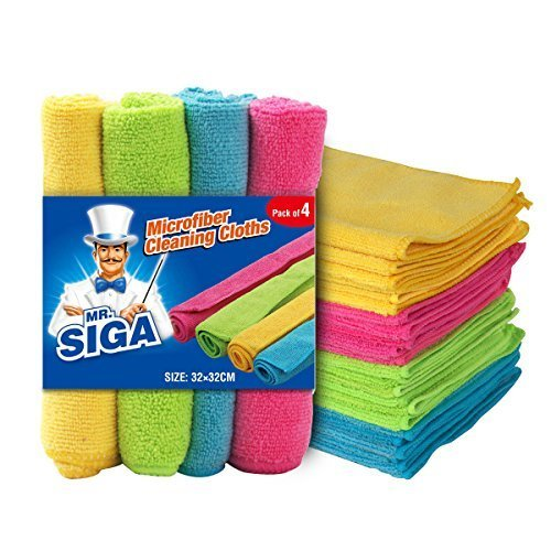 """MR. SIGA Microfiber Cleaning Cloth,Pack of 24,Size:12.6"""" x 12.6"""" by MR.SIGA"""