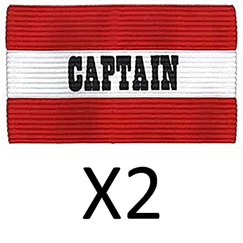 Champion Youth Soccer Captains ARM Band Available IN Redblue Red CYP-RED (2Pack) - Referee Armband