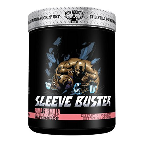 Sleeve Buster | Iron Addicts | Pre-Workout Pump Formula | Formulated By CT Fletcher (30 Servings, MuthaFuckin' Watermelon), 12.87 oz by Iron Addicts