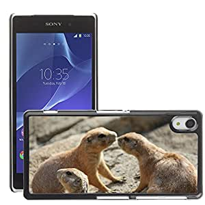 Hot Style Cell Phone PC Hard Case Cover // M00108975 Prairie Dog Rodent Wildlife Wild // Sony Xepria Z2 L50W