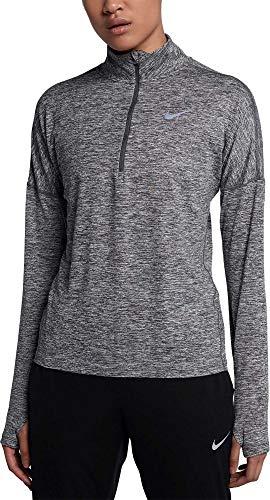 Nike Women's Dry Element Half Zip Top (Small, Dark Grey/HTR) by Nike (Image #1)