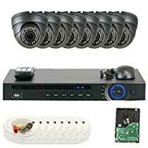 GW Security 8 Channel HD-CVI DVR (8) 2.8-12mm Motorized Zoom 2MP 1080P Weatherproof Sony Cmos Dome Security Camera System