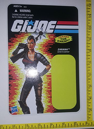 Used, Zarana The Enemy G.I.Joe Card toy UNUSED Yellow bK2 for sale  Delivered anywhere in USA