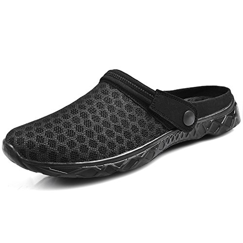 Image of Feetmat Men's Garden Clogs Mesh Lightweight Water Shoes Slip On Sandals Summer Aqua Slippers