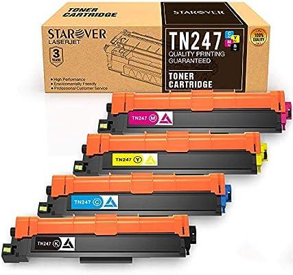 STAROVER 4-Paquete TN247 TN243 Repuesto para Brother TN247 TN243 ...