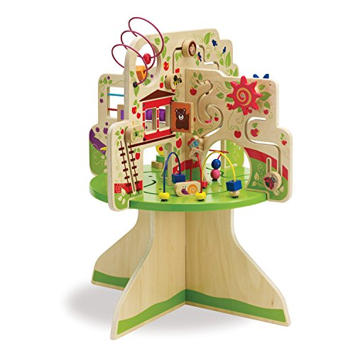 wooden activity cubes for toddlers