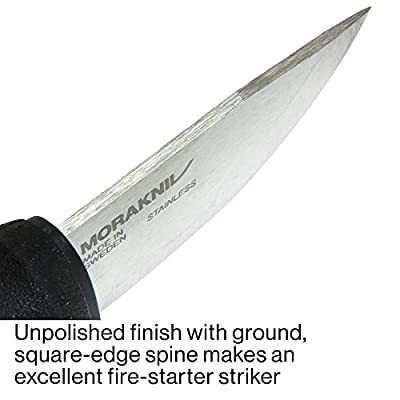 Morakniv Eldris Fixed-Blade Pocket-Sized Knife with Sandvik Stainless Steel Blade and Plastic Sheath 2.2-Inch.