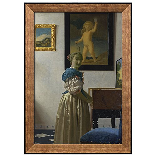 Lady Seated at a Virginal by Johannes Vermeer Framed Art