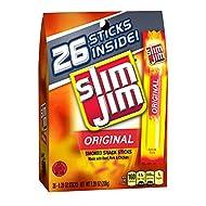 Slim Jim Snack-Sized Smoked Meat Stick, Original Flavor, .28 Oz. (26 Count)