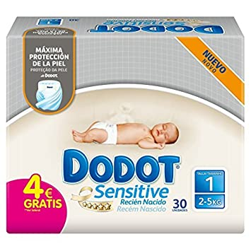 Amazon.com: Dodot Sensitive?-?Nappies Talla 1 - 30 pa?les by Dodot ...