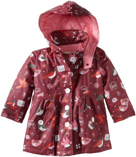 Hatley Little Girls'  Winter Birds All Weather Coat