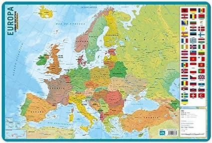 Grupo Erik Editores Lamina Educativa Mapa De Europa: Amazon.es: Oficina y papelería